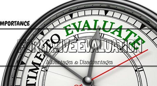Formative Evaluation Advantages Disadvantages