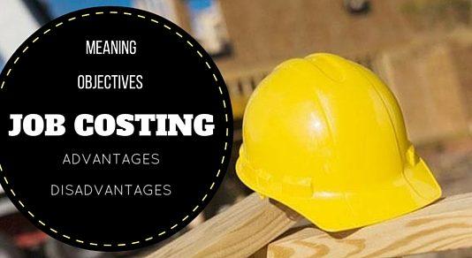 Job Costing Advantages Disadvantages