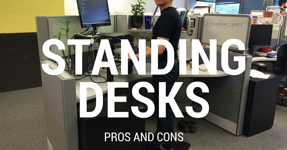pros and cons of a standing desk Top 16 Pros and Cons of Traditional and Standing Desks   WiseStep pros and cons of a standing desk