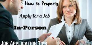 Apply for a Job in Person