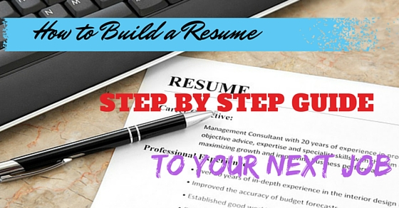 how to build a resume step by step guide to your next job wisestep