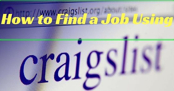 Finding Job Using Craigslist
