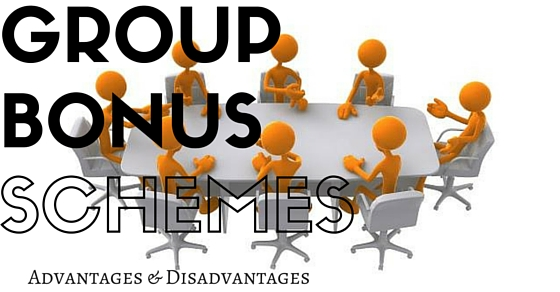 Group Bonus Schemes Advantages Disadvantages