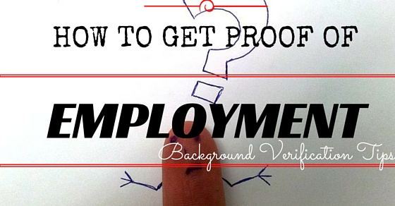 How Get Proof of Employment