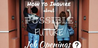 How to Inquire Job Openings