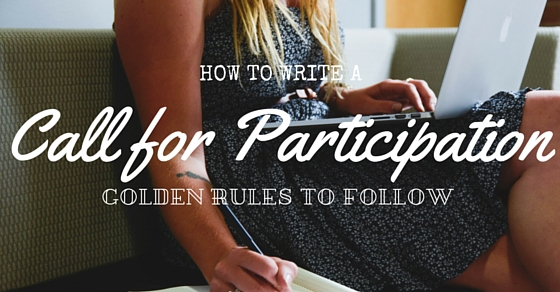 How to Write Call for Participation
