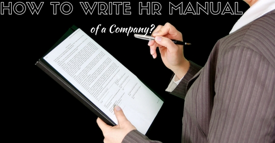 How to write hr manual