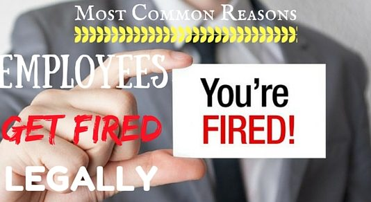 Reasons Employees Get Fired