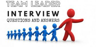 Team Leader Interview Questions Answers
