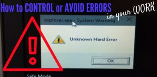 Control Avoid Errors in Work