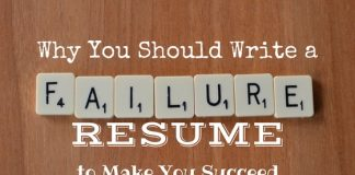 Why Write a Failure Resume