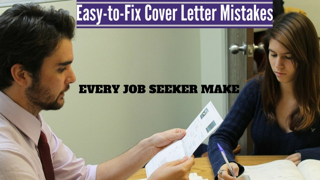EasyToFix Cover Letter Mistakes Every Job Seeker Make  Wisestep