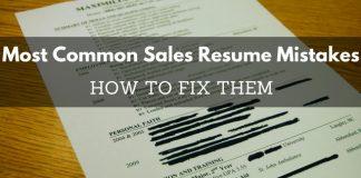 Common Sales Resume Mistakes