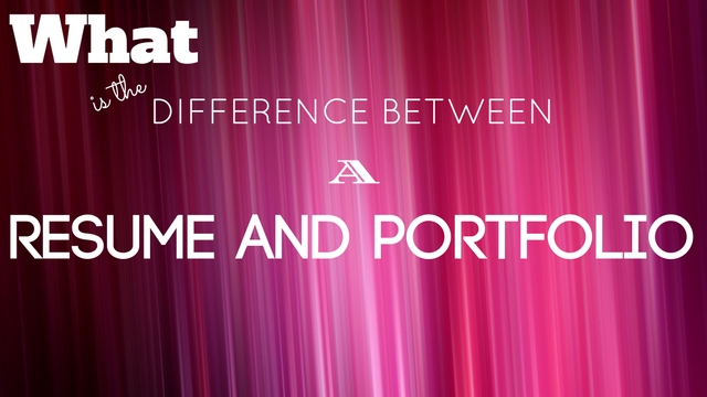 What is the Difference Between a Resume and Portfolio WiseStep
