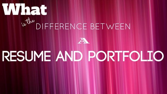 Difference Between Resume Portfolio