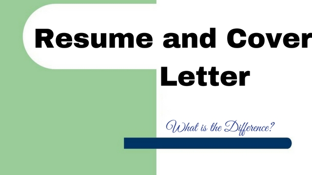 difference between resume and cover letter