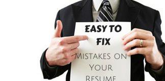 Easy to Fix Resume Mistakes