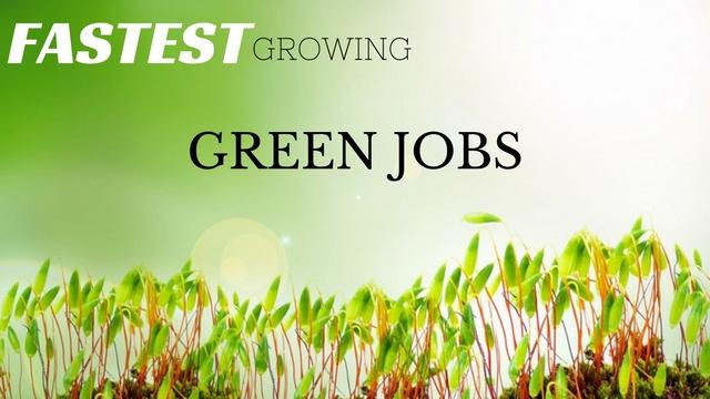 Green collar jobs