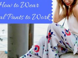 Floral Pants to Work