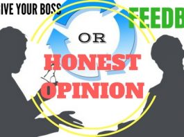 Give Boss Feedback or Honest Opinion