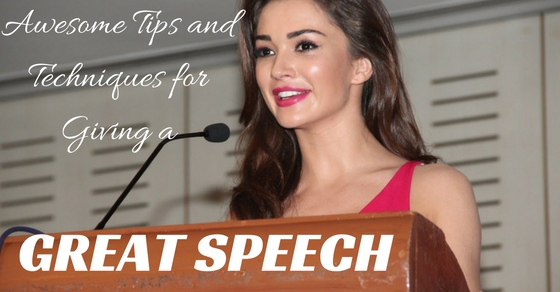 Great Speech Tips Techniques