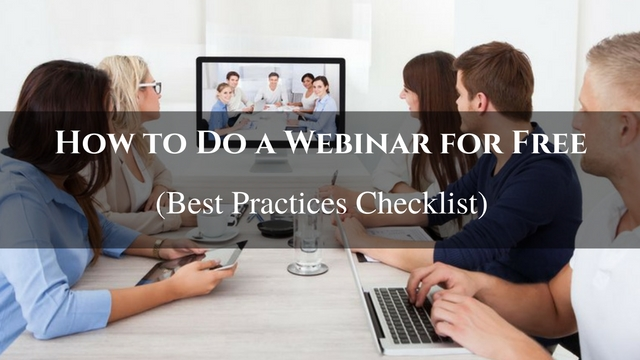 How to Do a Webinar