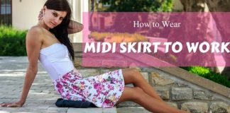 How to Wear Midi Skirt
