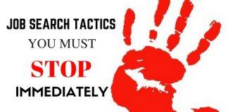 Job Search Tactics to Stop