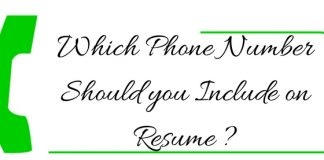 Phone Number to Include on Resume