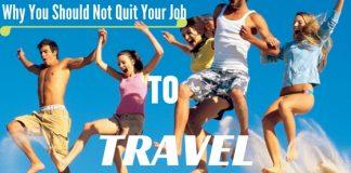 Quitting job to travel world