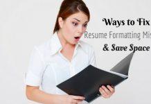 Resume Formatting Mistakes