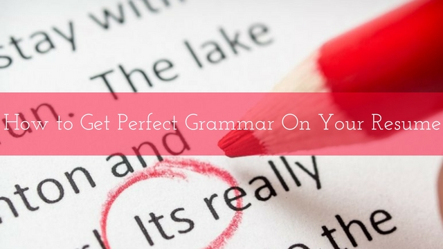 Spelling Grammar Tips for Resumes