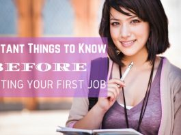 Starting Your First Job