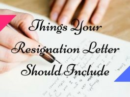 Things Resignation Letter Should Include