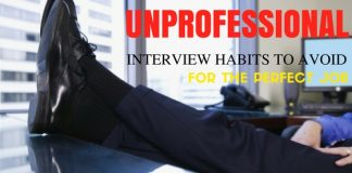 Unprofessional interview habits to avoid