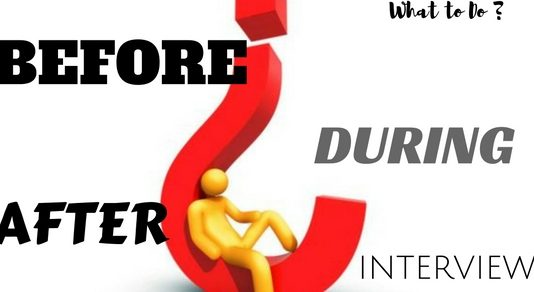 What to Do Before During After Interview