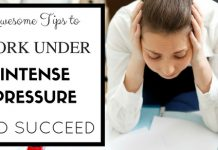 Work Under Pressure and Succeed