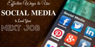 using social media to find a job