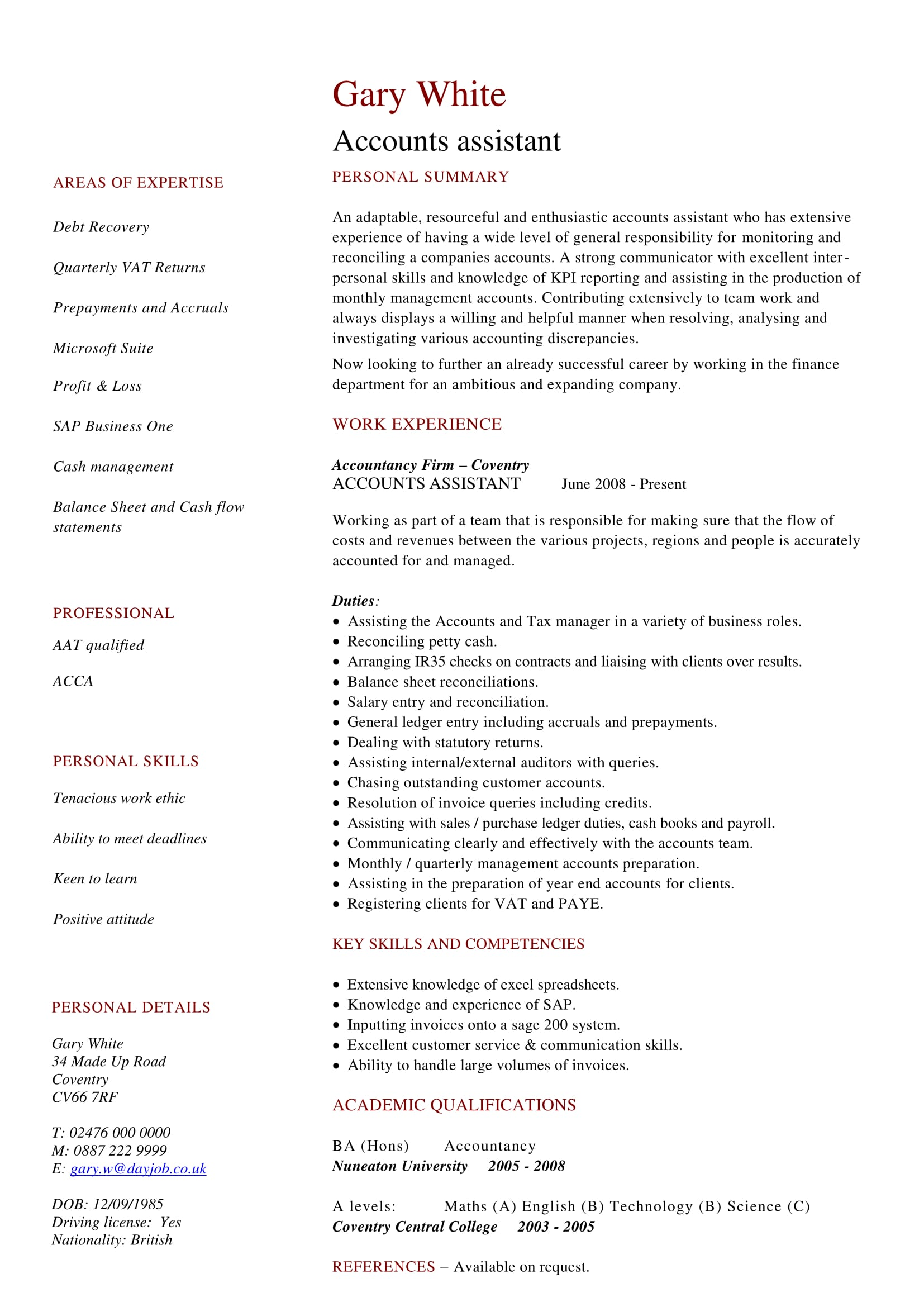24 best finance resume sample templates