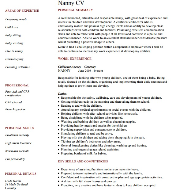 18 best babysitter resume sample templates