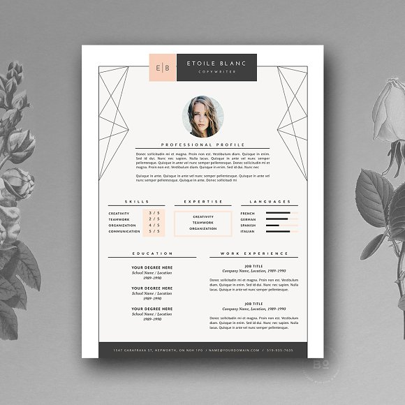 29 creative and beautiful resume templates