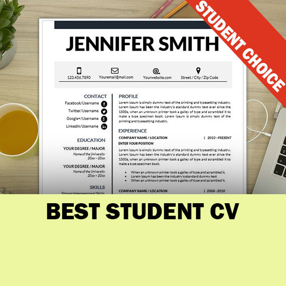 Good 24 Best Student Sample Resume Templates