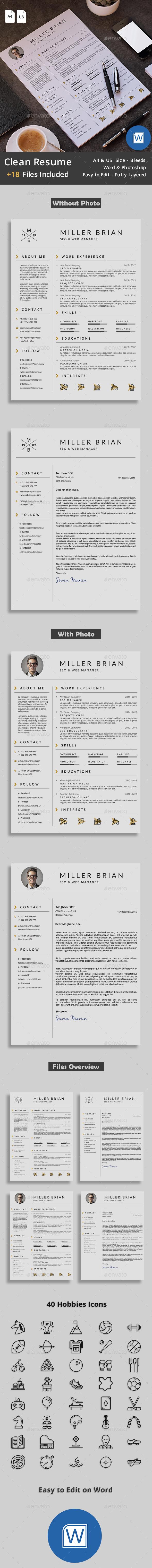 clean resume format