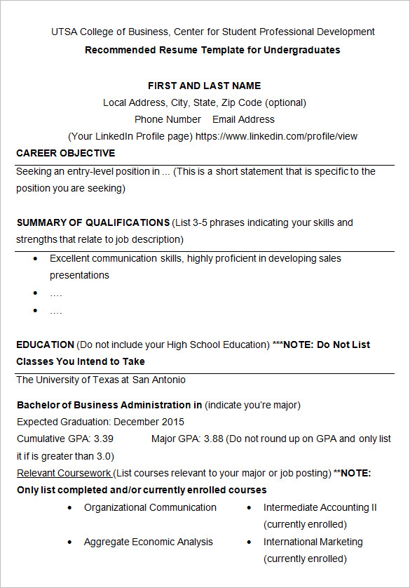 24 best student sample resume templates