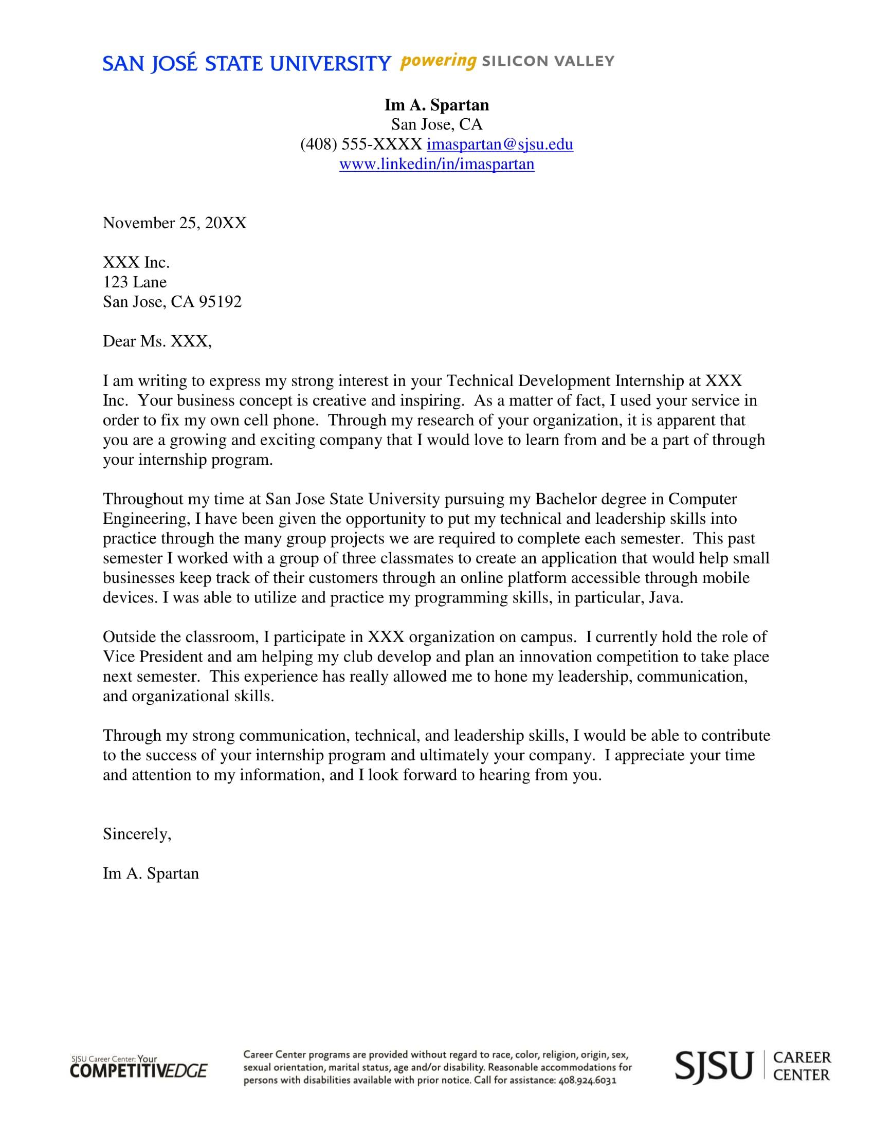 Cover letter internship solarfm search results for cover letter samples for internship thecheapjerseys Gallery