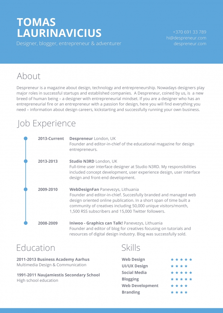Contemporary Resume Templates To Impress Any Employer  Wisestep