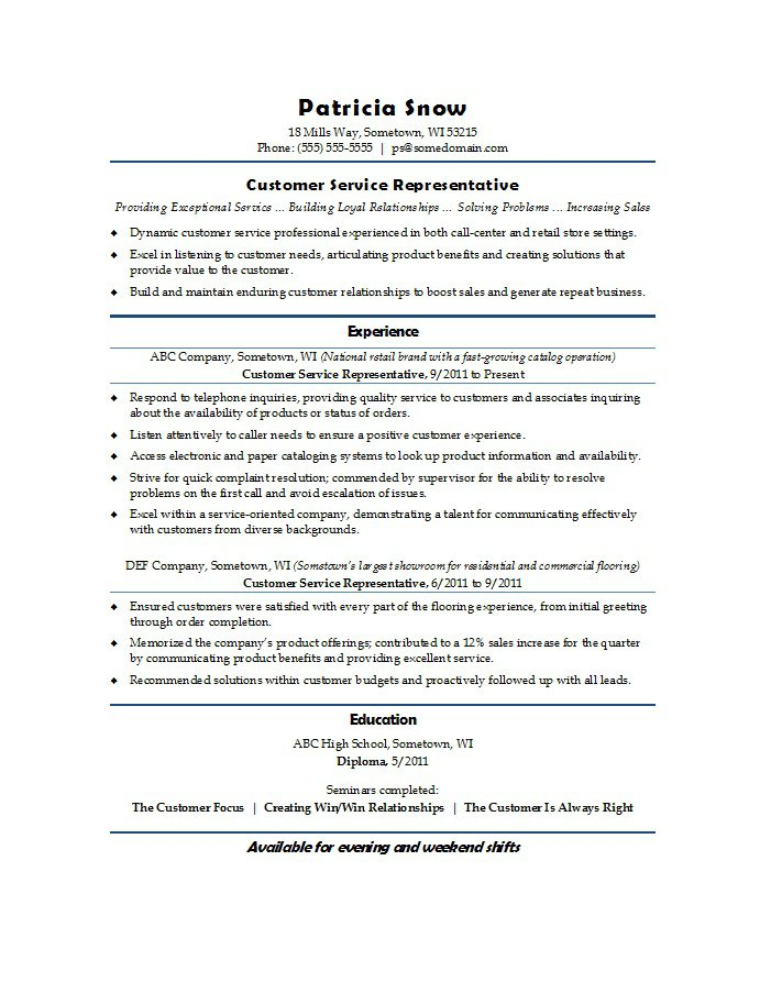Customer Service Resume Examples Customer Service Resume Samples