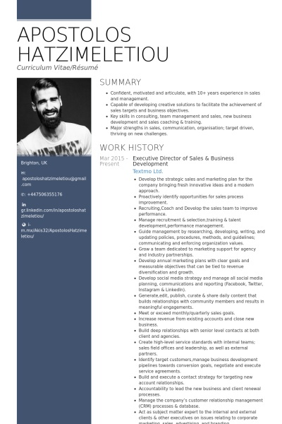 executive director resume - Sample Executive Resume