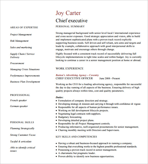 24 Best Sample Executive Resume Templates Wisestep - Executive-resume