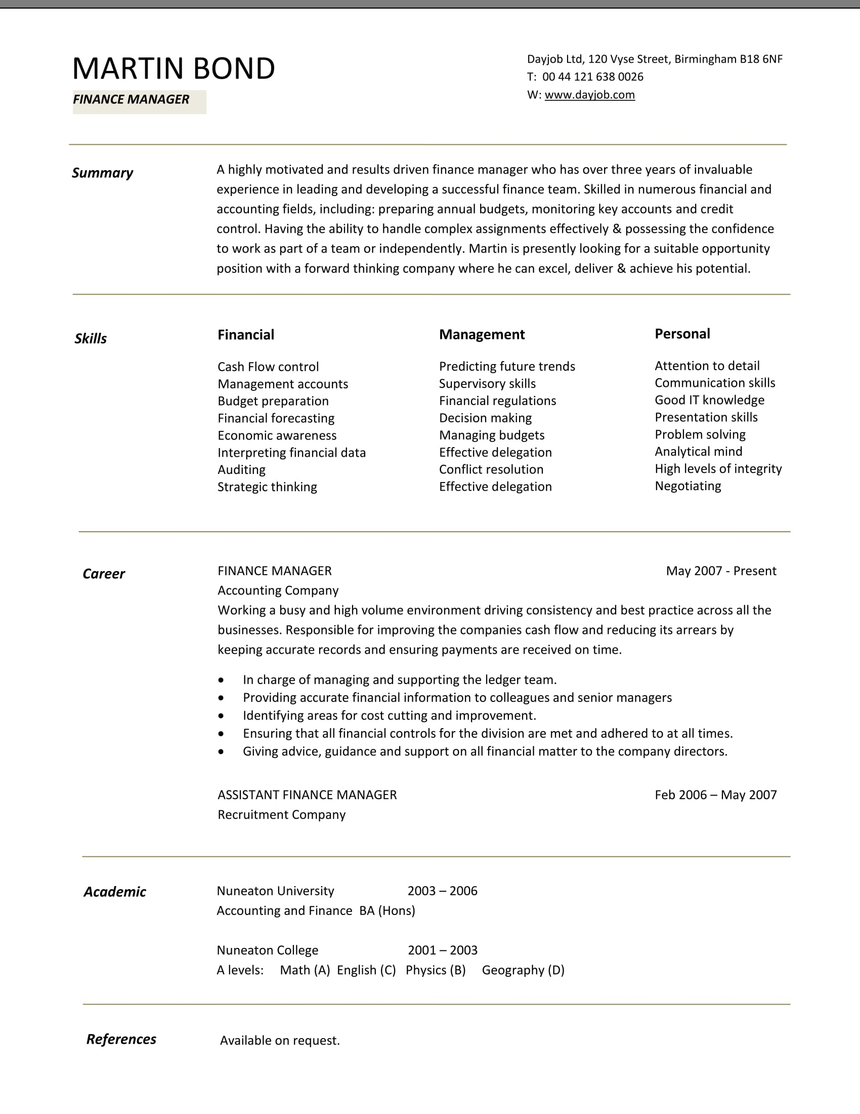24 best finance resume sample templates wisestep finance manager cv template thecheapjerseys Choice Image